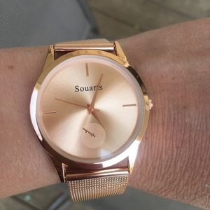 Accessories - Rose gold toned metal women's watch